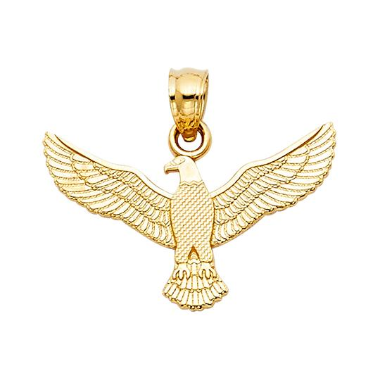 TD Collections 14K Yellow Gold Eagle Pendant Image 0