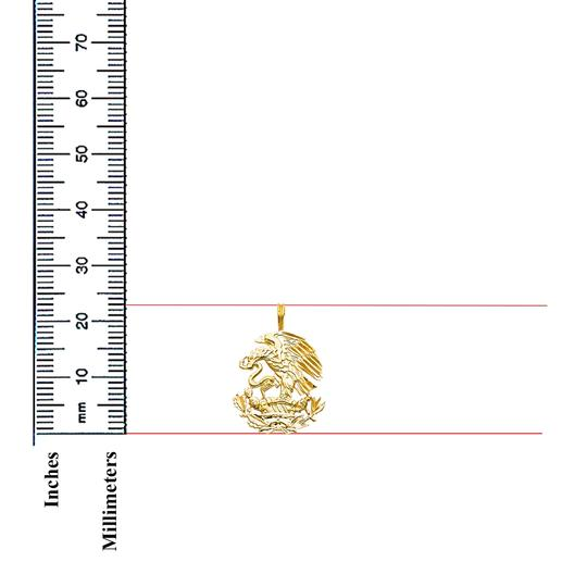 TD Collections 14K Yellow Gold Eagle Pendant Image 1
