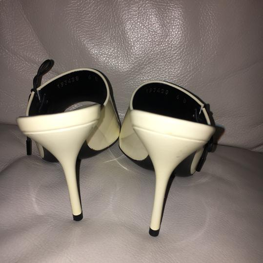 Gucci Off White Patent Leather Sandals Image 5
