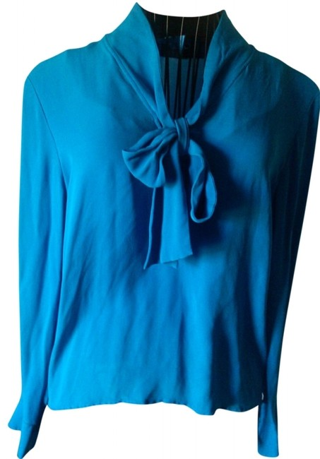 Item - Neon Blue Vintage By Blouse Size 10 (M)