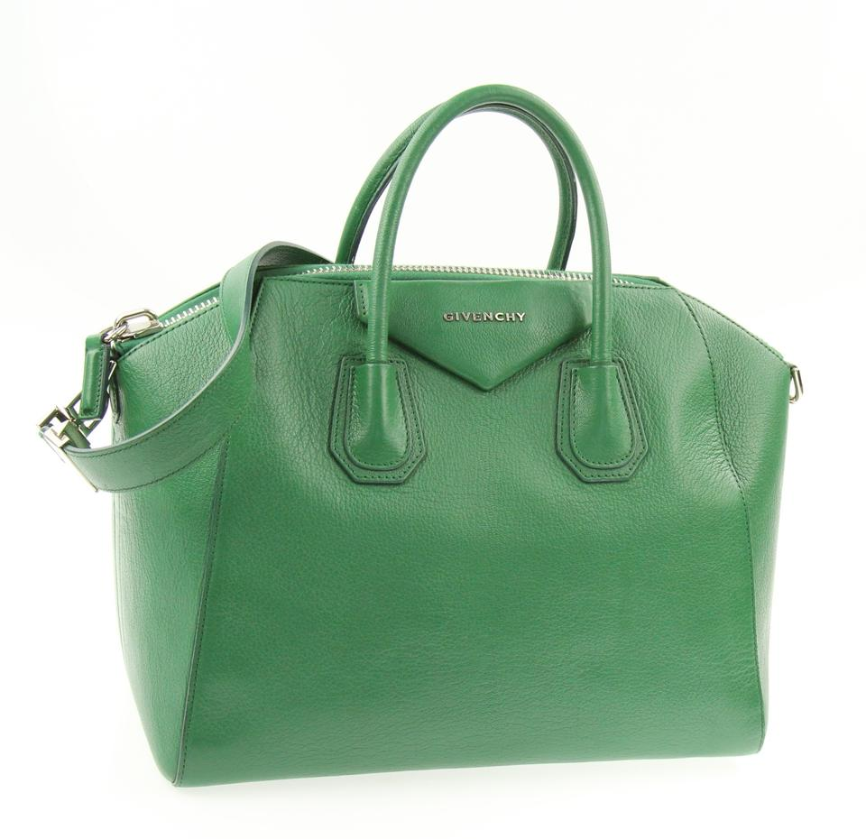 47d87e979a47 Givenchy Medium Antigona Green Leather Satchel - Tradesy