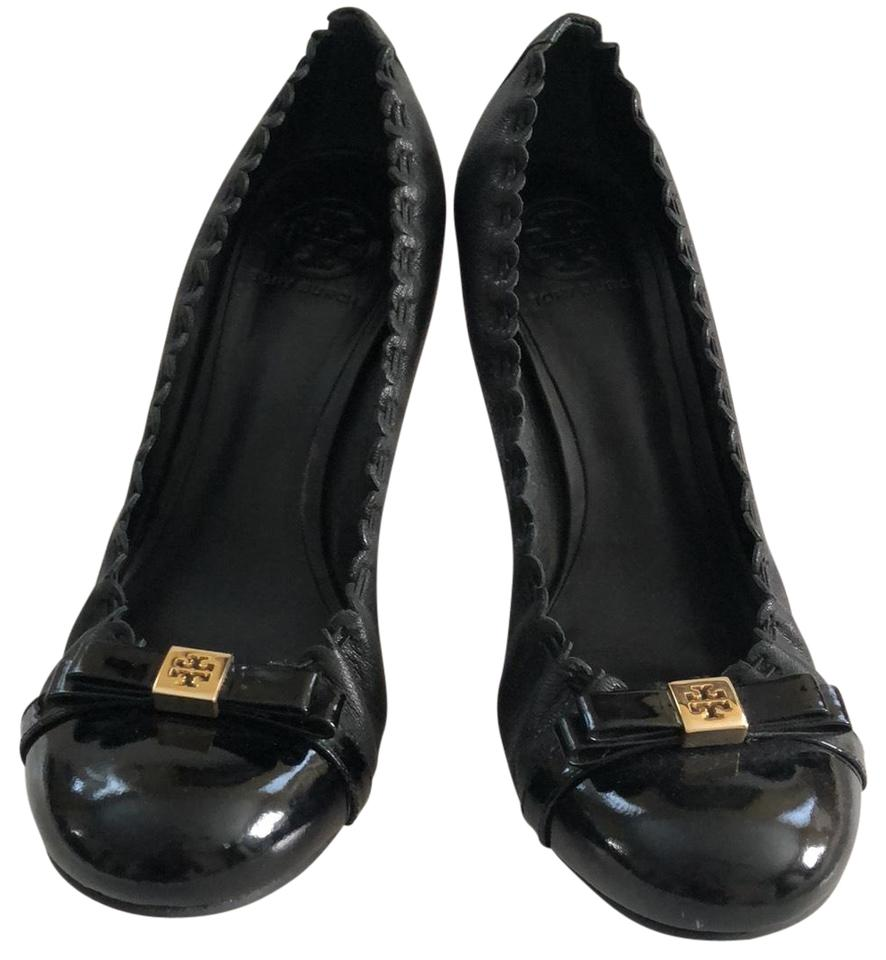 Tory Burch Romy Black Romy Burch Mid Heel Pumps 0f7038