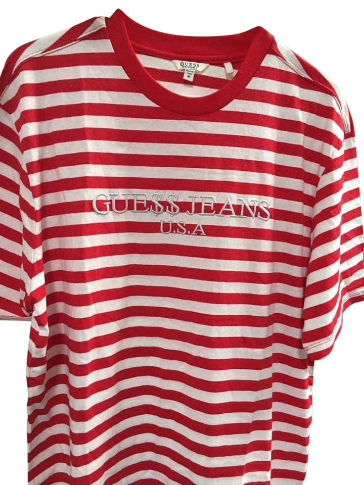 c02d0121242f Guess Red Striped Rocky Asap Collection Tee Shirt Size 16 (XL, Plus ...
