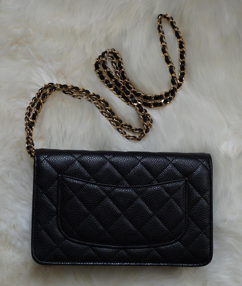 fdb2d7727849 Chanel Wallet on Chain Classic with Chain 2015 Black/Gold Caviar ...