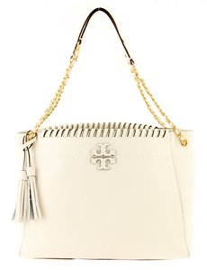 30be8f6d4a97 Tory Burch Mcgraw Whipstitch New Ivory Shoulder Bag