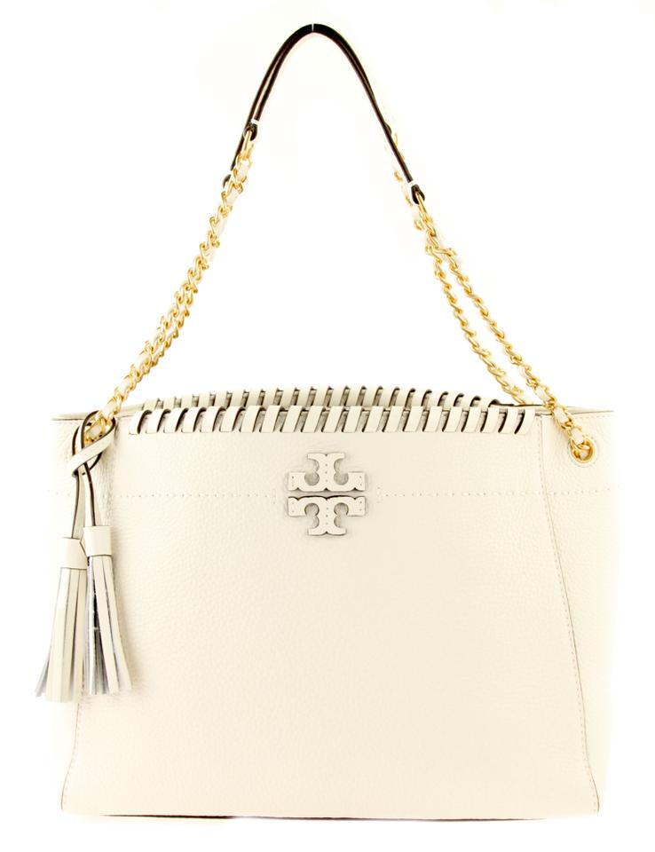 a4c05cf488c Tory Burch Whipstitch Mcgraw Slouchy New Ivory White Leather ...