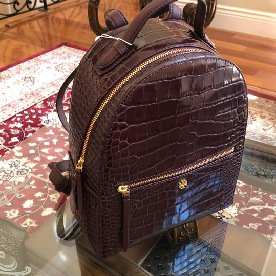 Tory Burch Croc Rare Backpack Image 1