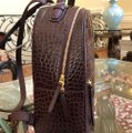 Tory Burch Croc Rare Backpack Image 3