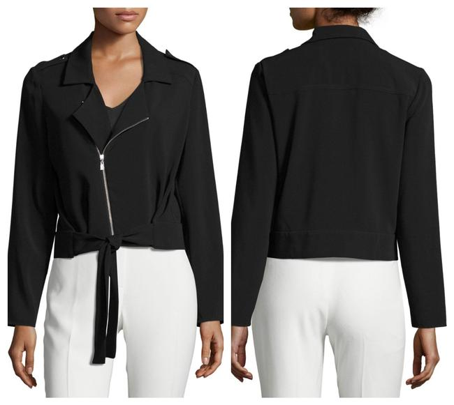 Preload https://img-static.tradesy.com/item/23814482/laundry-by-shelli-segal-black-zipper-and-tie-front-crepe-jacket-blazer-size-10-m-0-0-650-650.jpg