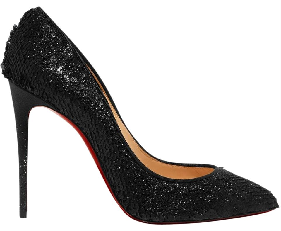 Christian Louboutin Black - Pumps Pigalle Follies Sequined 100mm Pumps - c4cc00