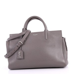 Saint Laurent Gauche Leather Tote in grey