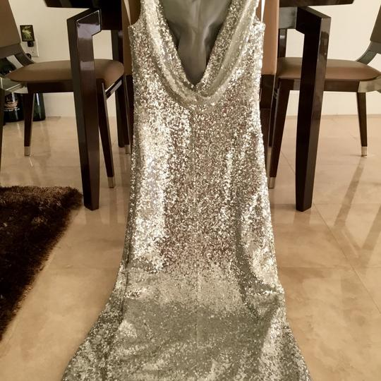 Silver Formal Bridesmaid/Mob Dress Size 2 (XS) Image 2