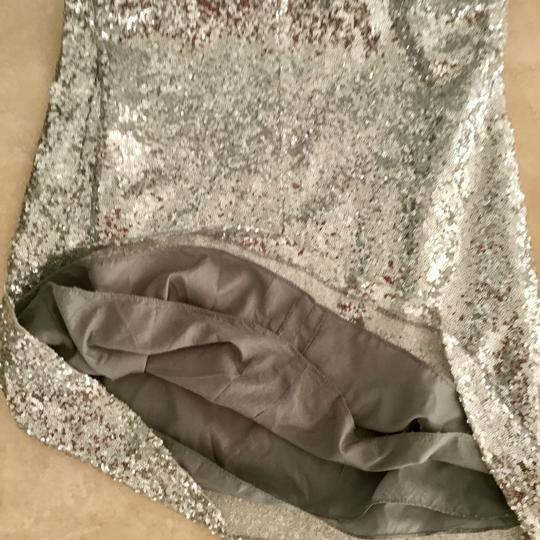 Silver Formal Bridesmaid/Mob Dress Size 2 (XS) Image 3