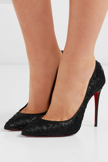 Christian Louboutin Pigalle Follies Sequined black Pumps Image 3