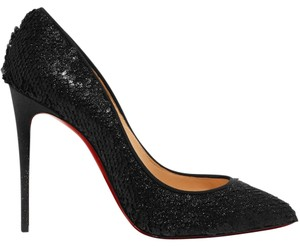 Christian Louboutin Pigalle Follies Sequined black Pumps