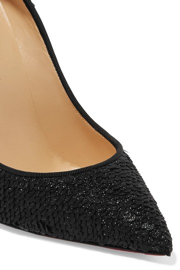 Christian Louboutin Pigalle Follies Sequined black Pumps Image 1