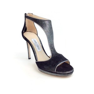 Jimmy Choo Anthracite Velvet Pumps