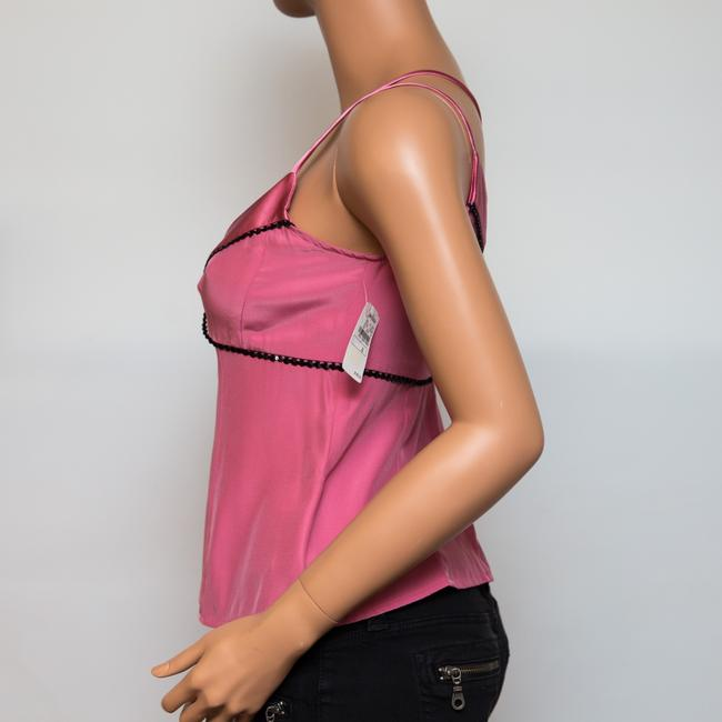 Nanette Lepore Silk Sequined Top Pink Image 4