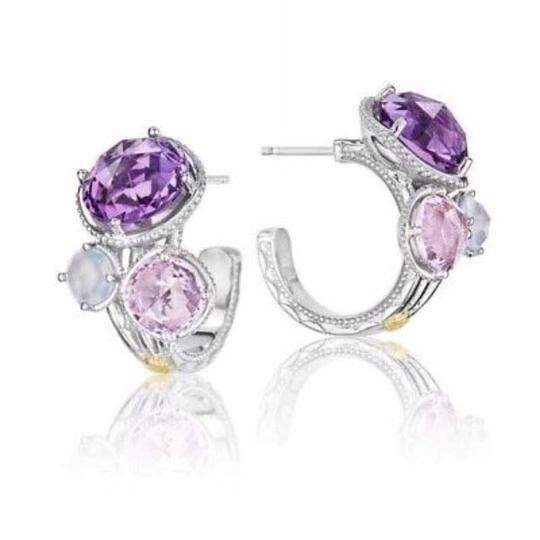 Preload https://img-static.tradesy.com/item/23814617/tacori-purple-lilac-18k925-blossoms-trio-stoned-hoop-earrings-0-0-540-540.jpg