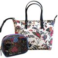 Tory Burch Small Zip Summer Tote in New Ivory Gabriela Floral Image 0