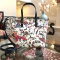 Tory Burch Small Zip Summer Tote in New Ivory Gabriela Floral Image 1