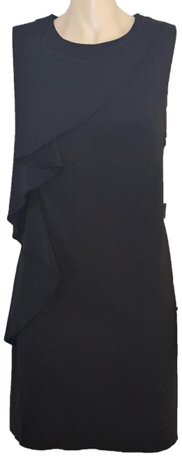 Cynthia Steffe Black Kyle Draped Detail Short Work/Office Dress Size 12 (L) Cynthia Steffe Black Kyle Draped Detail Short Work/Office Dress Size 12 (L) Image 1