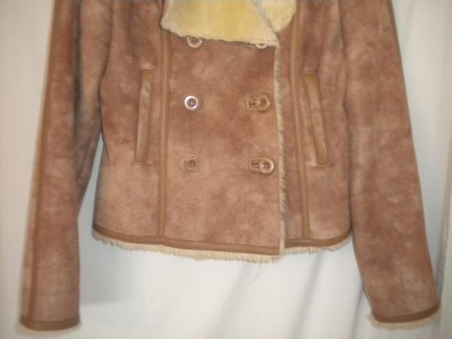Kenneth Cole Reaction Faux Suede Lined Double Breasted Winter Pea Coat Image 2