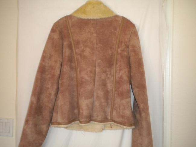 Kenneth Cole Reaction Faux Suede Lined Double Breasted Winter Pea Coat Image 3