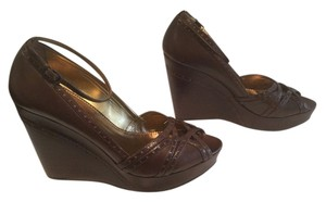 Imagine by Vince Camuto All Leather Brown Wedges