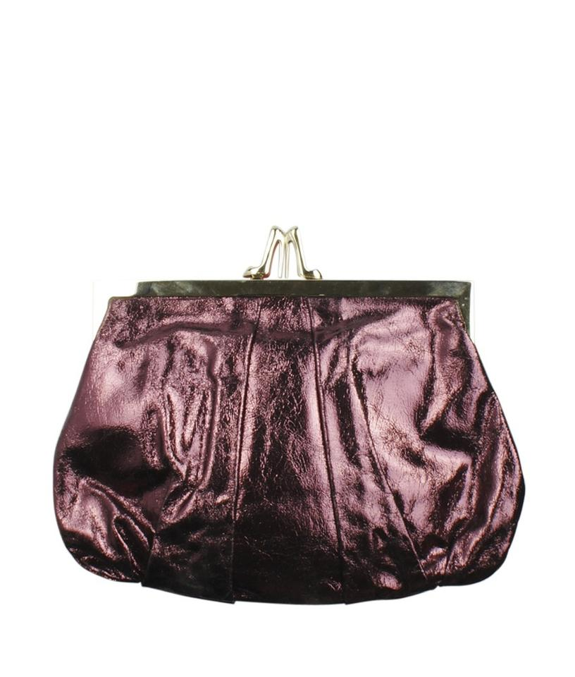 Purple Leatherxmetallic Christian Metallic 154532 Evening Satchel Louboutin Leather wOqFXa4