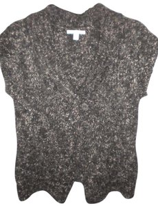 Merona Sheath Button Front Wool Blend Black/White Sweater