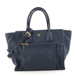 Prada Front Pocket Tote in Blue