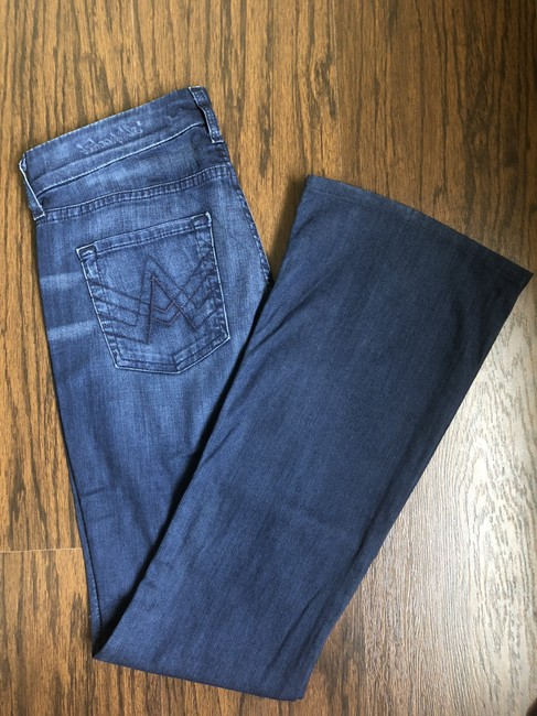 7 For All Mankind Denim Flare Leg Jeans-Medium Wash Image 1