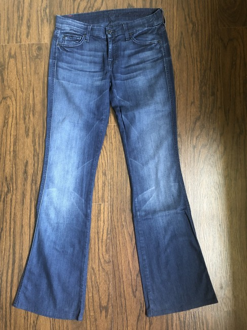 7 For All Mankind Denim Flare Leg Jeans-Medium Wash Image 2
