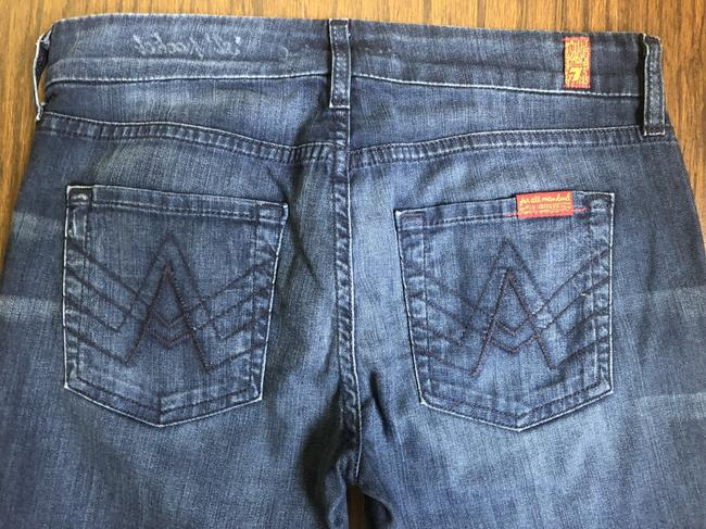7 For All Mankind Denim Flare Leg Jeans-Medium Wash Image 4