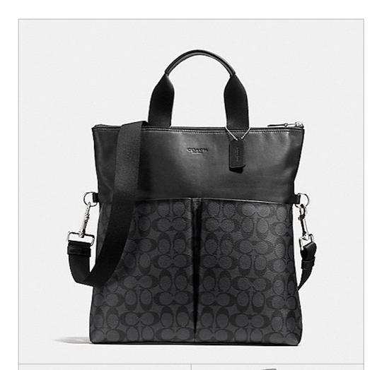 Coach New With Tags Tote in Charcoal / Black Image 4