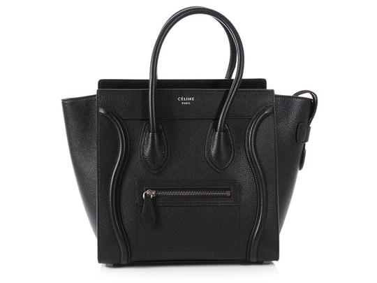 Preload https://img-static.tradesy.com/item/23815172/celine-luggage-micro-black-calfskin-leather-tote-0-0-540-540.jpg