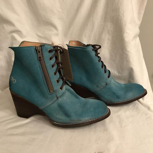 Bed|Stü Nubuck Suede Leather Distressed Ankle Blue Boots Image 4
