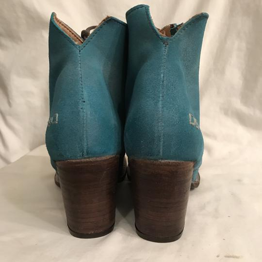 Bed|Stü Nubuck Suede Leather Distressed Ankle Blue Boots Image 5