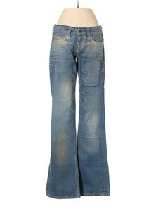 Taverniti So Jeans Boot Flare Leg Jeans-Distressed