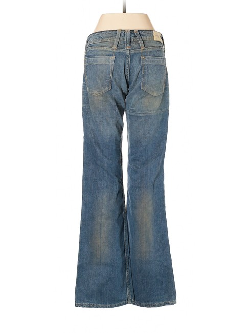 Taverniti So Jeans Flare Distressed Vintage Low Rise Boot Cut Jeans-Distressed Image 1