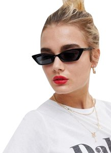 ASOS Trendy thin 90's style squared off narrow cat eye sunglasses