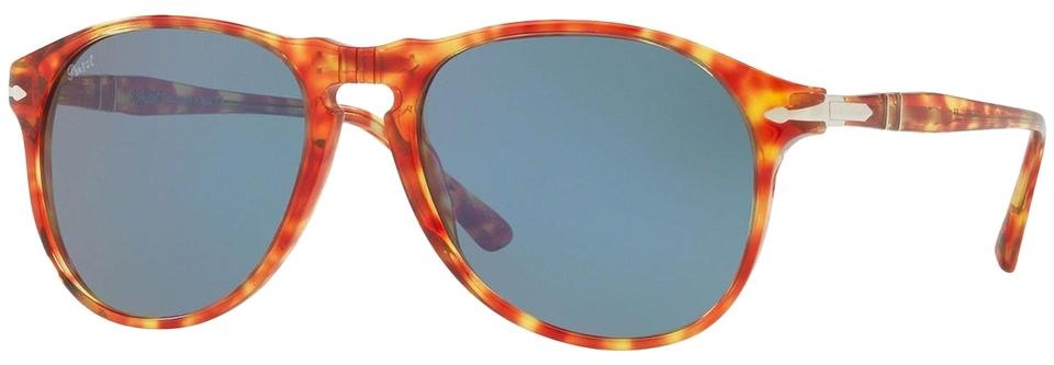 ec471a0aa45d9 Persol New Persol Unisex Sunglasses PO6649S 1060 56 Red Tortoise Frame Blue  Image 0 ...