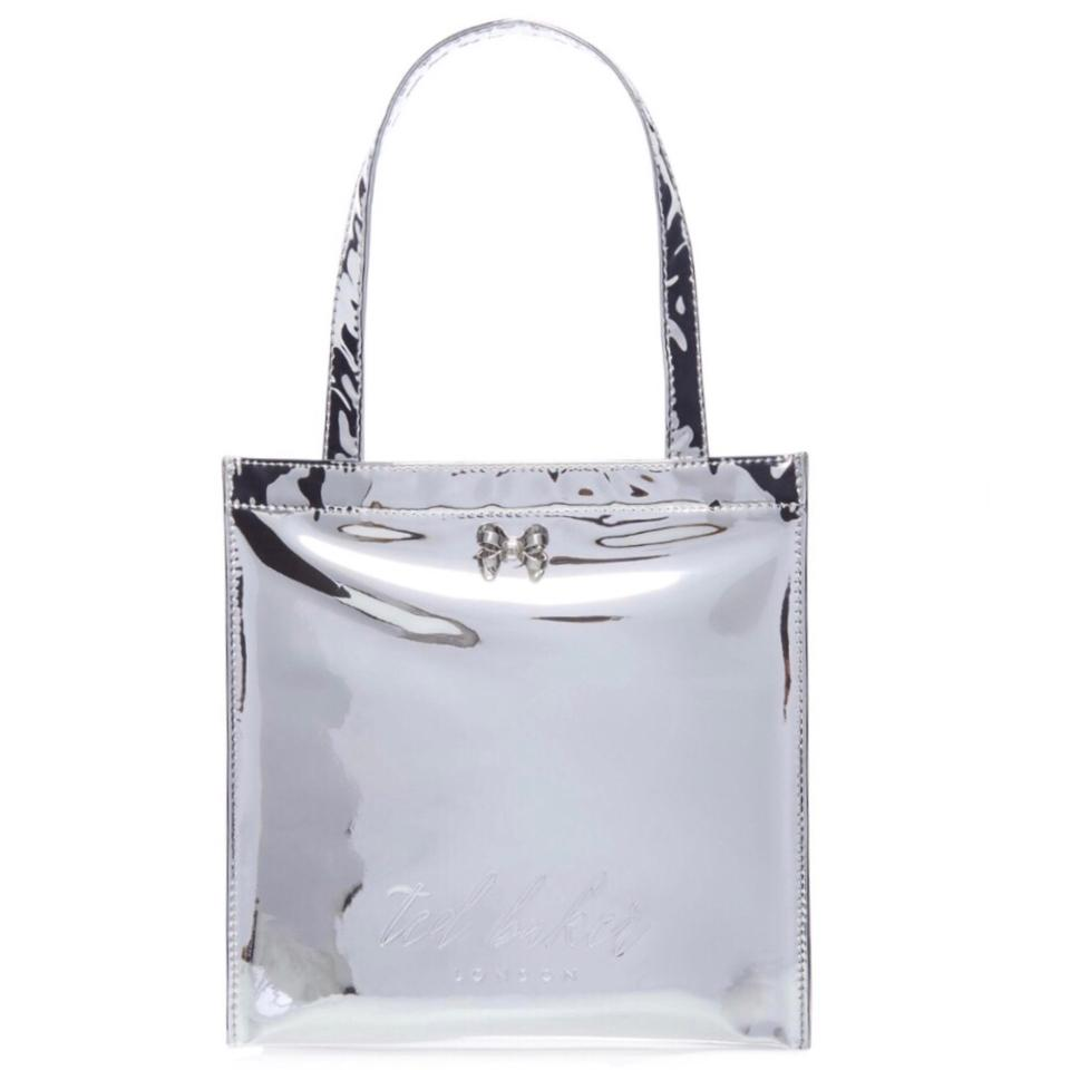 4867b8a44 Ted Baker London Tote in Silver Mirrored Image 0 ...