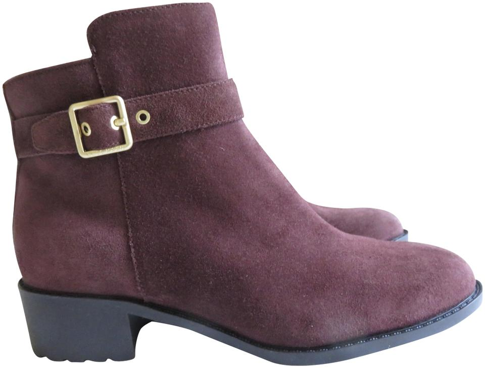 Cole Haan Dark Chocolate Brown Ankle Os Suede Buckle Grand Os Ankle Waterproof Boots/Booties 1351ff