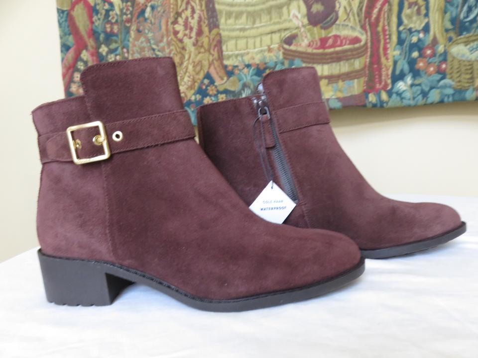 721f1e810bbe Cole Haan Dark Chocolate Brown Ankle Suede Buckle Grand Os Waterproof  Boots Booties Size US 7 Regular (M