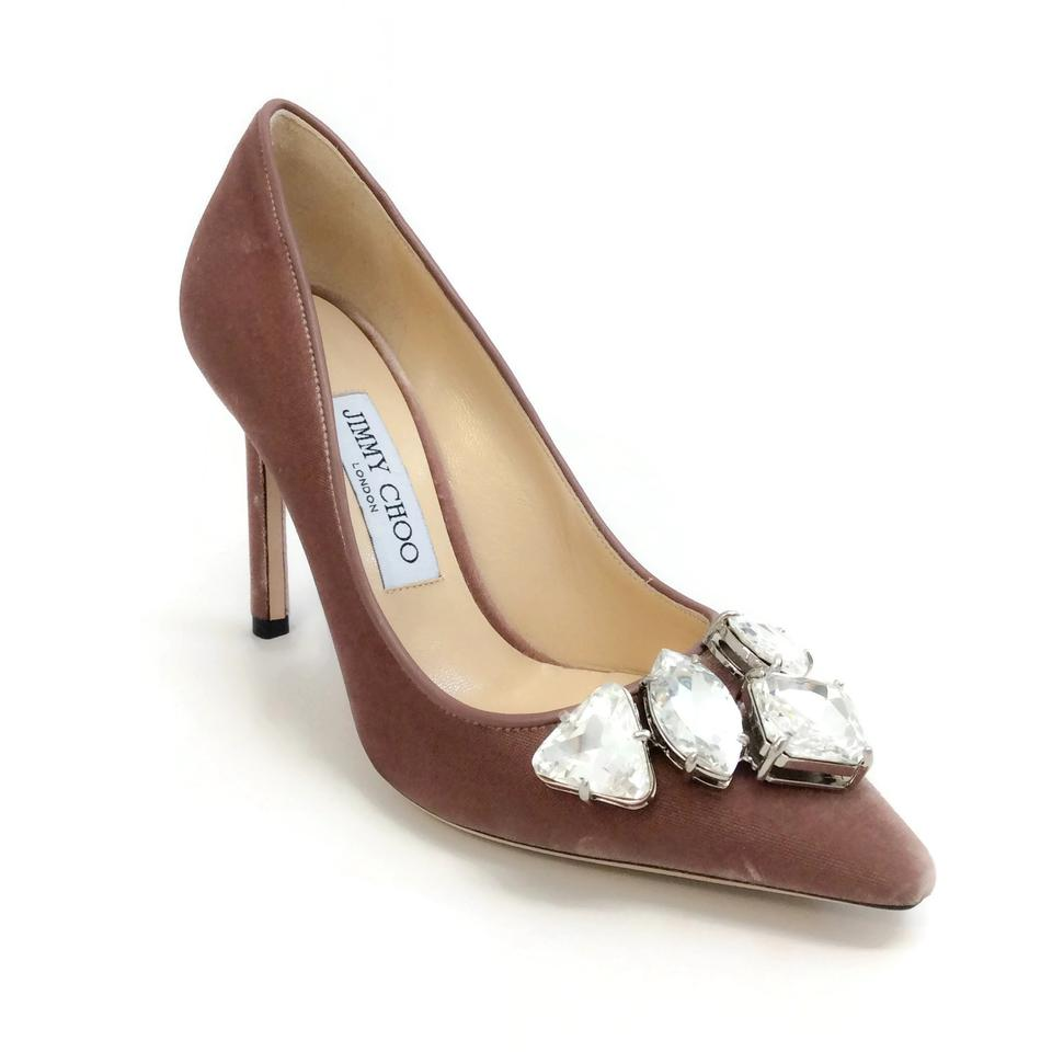 c48be295ed06 Jimmy Choo Ballet Pink Velvet Marvel 100 Pumps Size EU 39 (Approx ...