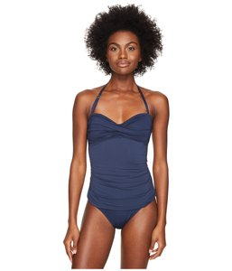Letarte Swimwear Letarte Bandeau one piece Dusty Navy women's size Small