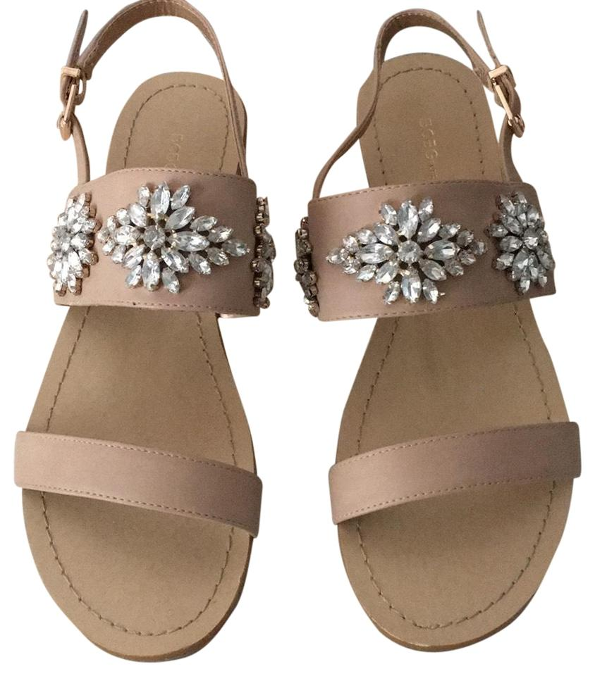 fbf0aee2d BCBGeneration Neutral Flat Jewel Sandals Size US 9 Regular (M