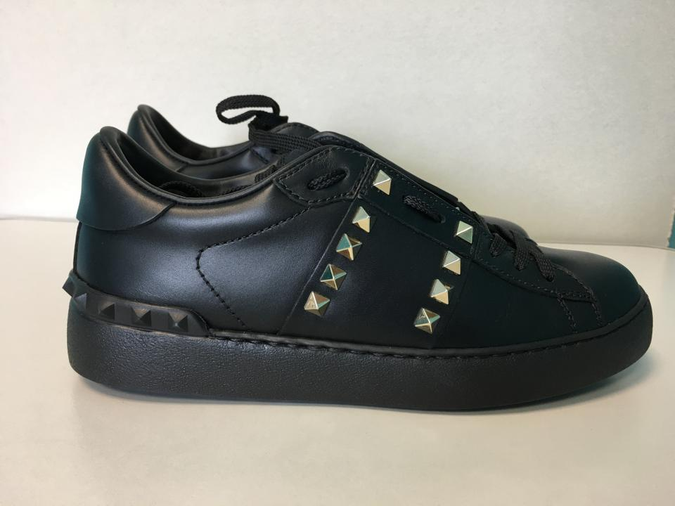 Low Leather Sneakers top Rockstud up Black Valentino Sneakers 11 Classic Lace Untitled xR18XS8